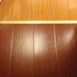 wood floor in basement
